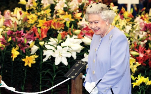 The Queen at Chelsea Flower Show 2012